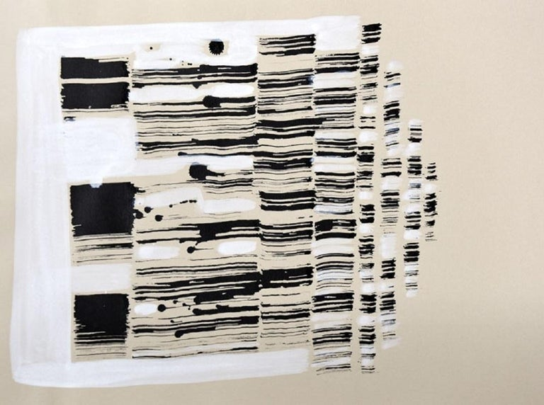 Łukasz Blikle Abstract Drawing - 2006.23 - XXI century, Black and white abstraction