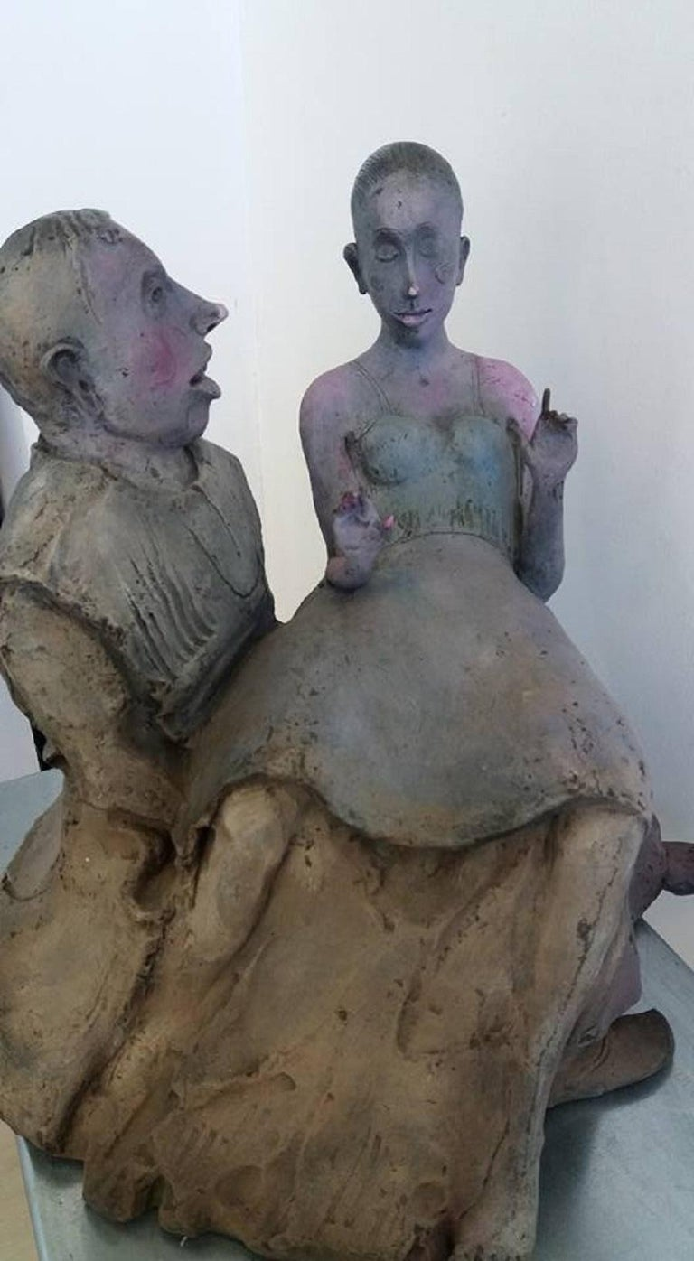 Couple - XXI Century, Bronze, Figurative Sculpture For Sale 1
