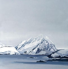 Lofoten Isles - XXI century, Landscape, Minimalistic painting, Blue
