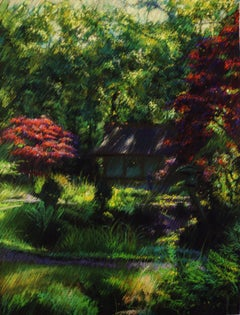 The Japanese garden 2 (2014), Drawing, Pastels on Other