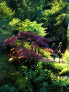 The Japanese garden 1 (2014), Drawing, Pastels on Pastel Sandpaper