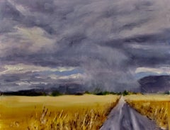 Storm Clouds over the Valley, Painting, Oil on MDF Panel