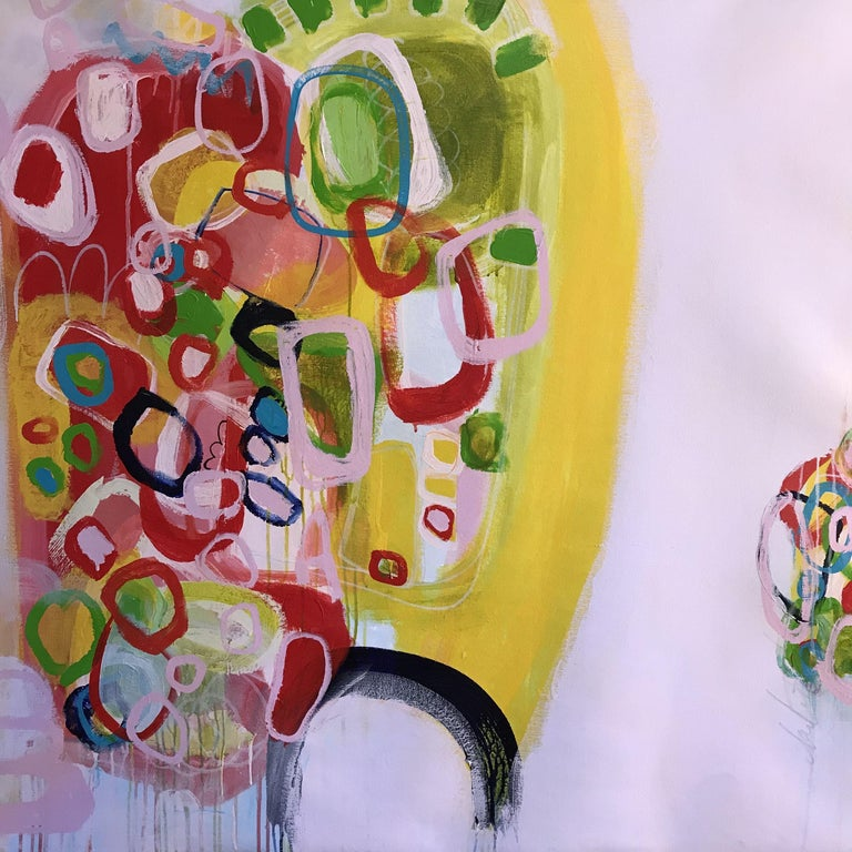 Darlene Watson Abstract Painting - Hand Hold Your Inner Child, Painting, Acrylic on Canvas