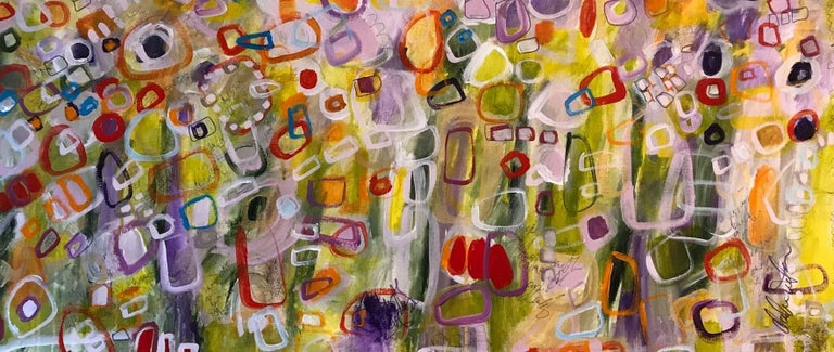 Darlene Watson Abstract Painting - Meditation a Diptych set, Painting, Acrylic on Canvas