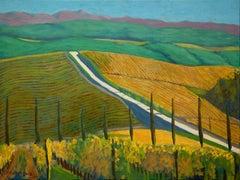 Dievole Vineyards, Painting, Oil on Canvas