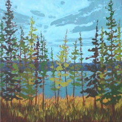 Lake Series, Painting, Acrylic on Canvas