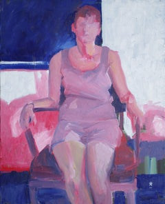 Maria seated, Painting, Oil on Canvas