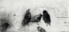 Birds - XXI century, Figurative print, Black and white, Animals