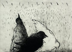 Birds - XXI century, Figurative print, Black and white, Animals
