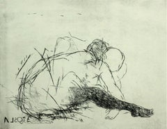 Nude - XXI century, Figurative print, Black and white