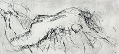 Female nude - XXI century, Figurative print, Black and white