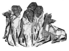 Hunt 1 - XXI century, Print, Young artist, Black and white, Geometrical