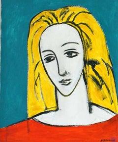 Angel - XXI century, Oil figurative painting, Portrait