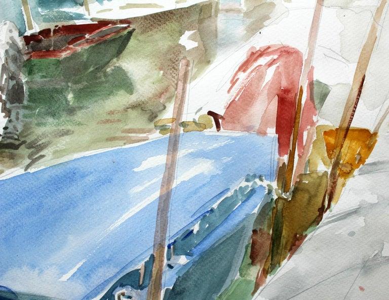 Murano canals - XXI century, Watercolor painting, Landscape - Art by Włodzimierz Karczmarzyk