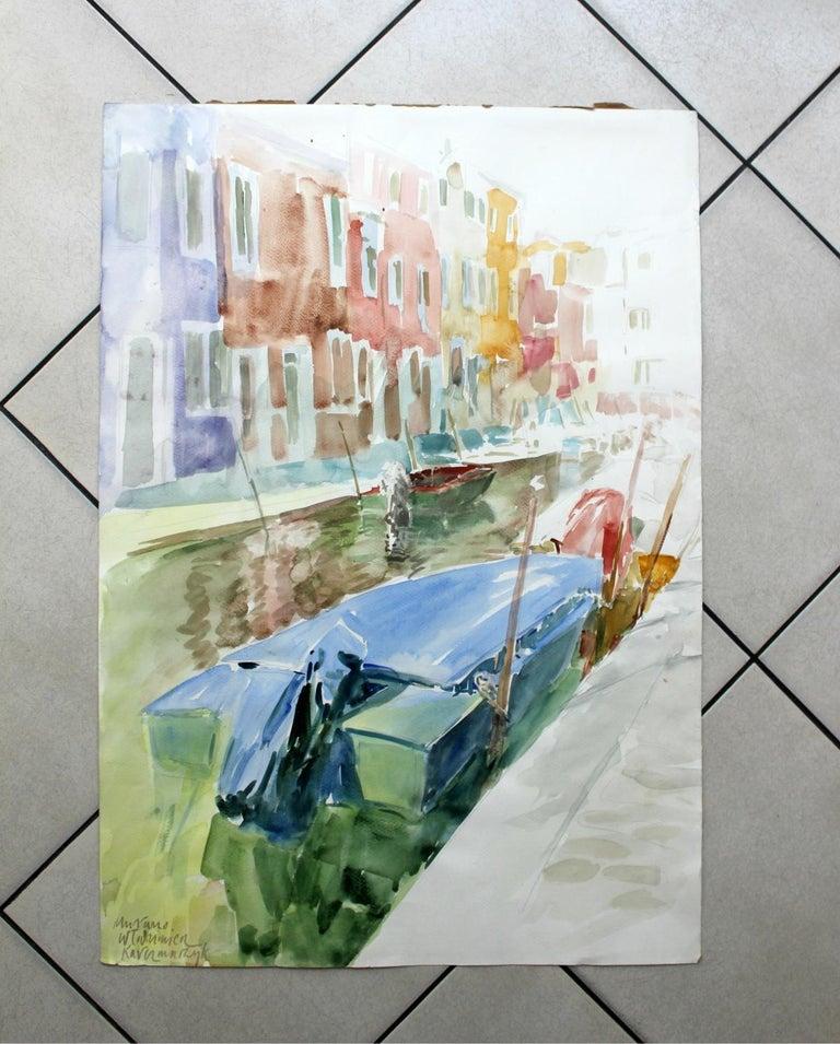 Murano canals - XXI century, Watercolor painting, Landscape - Other Art Style Art by Włodzimierz Karczmarzyk