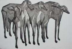Hunt 6 - XXI century, Print, Young artist, Black and white, Geometrical