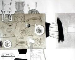 Moments III - XXI century, Print, Etching, Interiors
