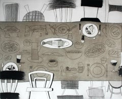Moments II - XXI century, Print, Etching, Interiors