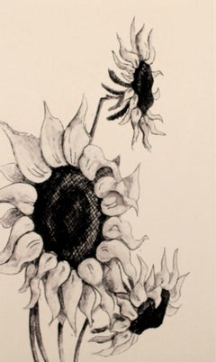 A view II - XXI century, Print, Etching, Still life, Flowers