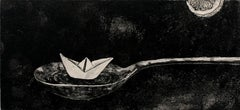 Water under the keel - XXI century, Print, Etching, Abstract