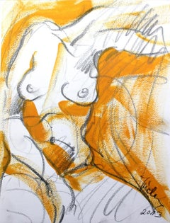 Nude - XXI century, Mixed media, Acrylic painting