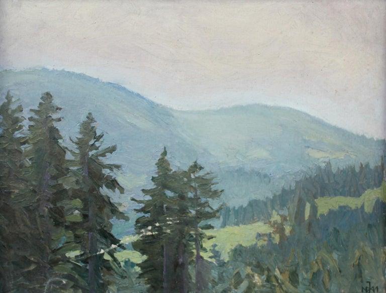 Juliusz Mieszkowski Landscape Painting - Mountain landscape - XX century, Oil painting, Landscape