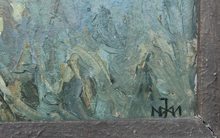 Mountain landscape - XX century, Oil painting, Landscape - Painting by Juliusz Mieszkowski