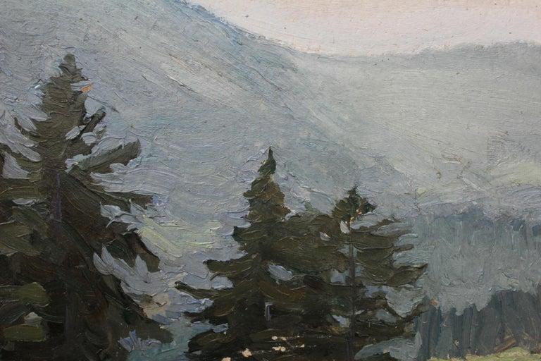 Mountain landscape - XX century, Oil painting, Landscape - Other Art Style Painting by Juliusz Mieszkowski