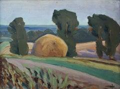 Field landscape - XX century, Oil painting, Landscape
