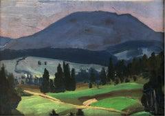 Mountain landscape - XX century, Oil painting, Landscape