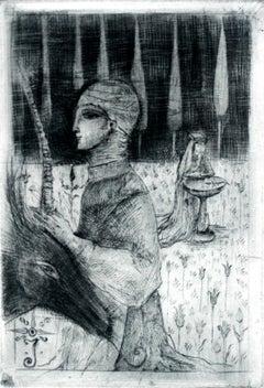 Justyna's Garden - XXI century, Figurative print, Etching