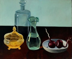 Still life - XXI century, Oil painting, Colourful, Glass