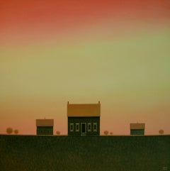 Under an Evening Sky, Painting, Acrylic on Canvas