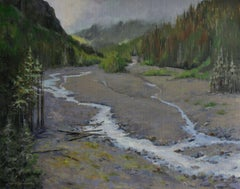 Nisqually River, Painting, Oil on Canvas