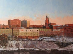 River Town, Painting, Oil on Canvas