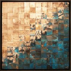Fjords (series), Mixed Media on Wood Panel