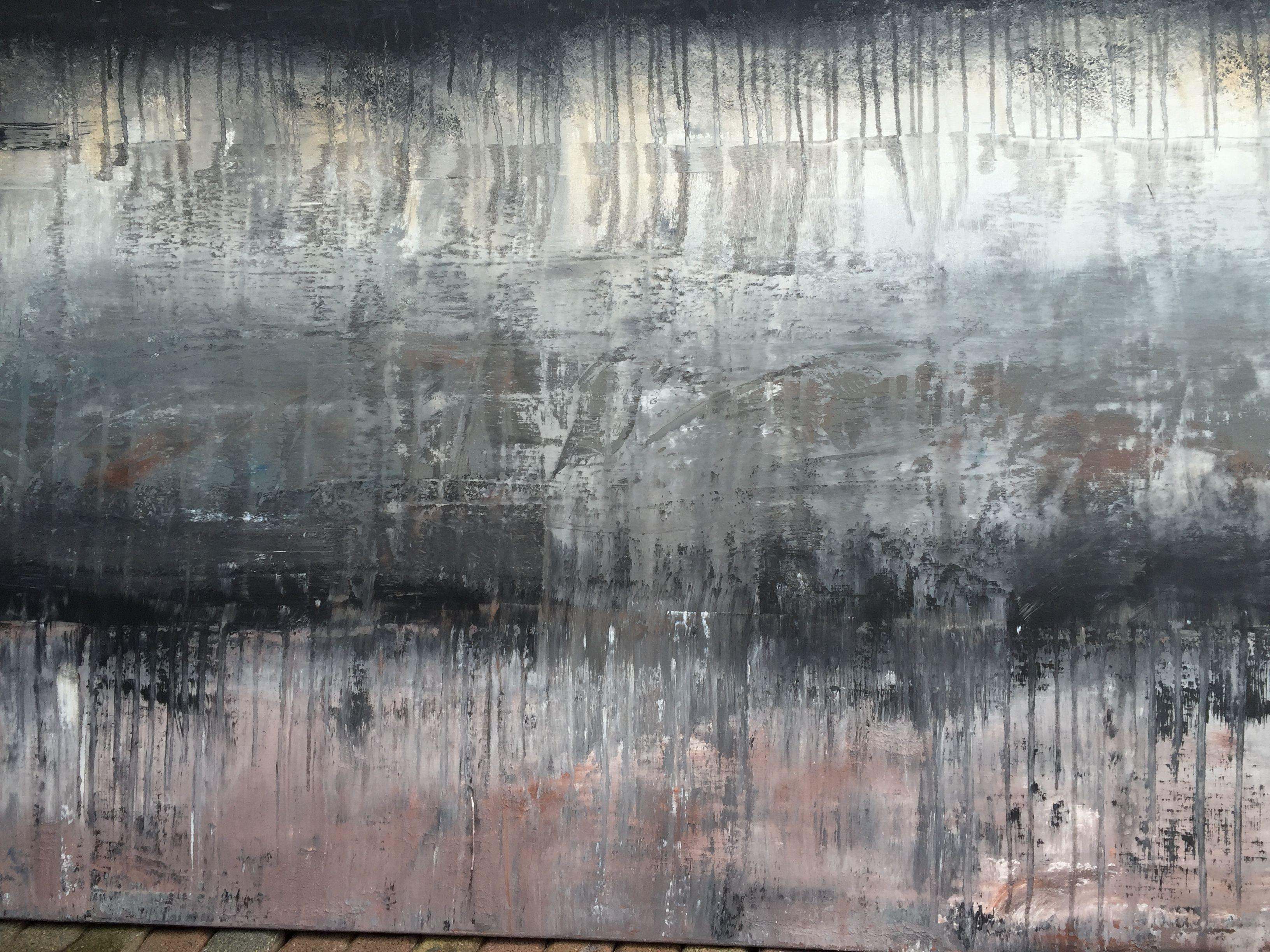 abstract historic wall No.1, Painting, Acrylic on Canvas
