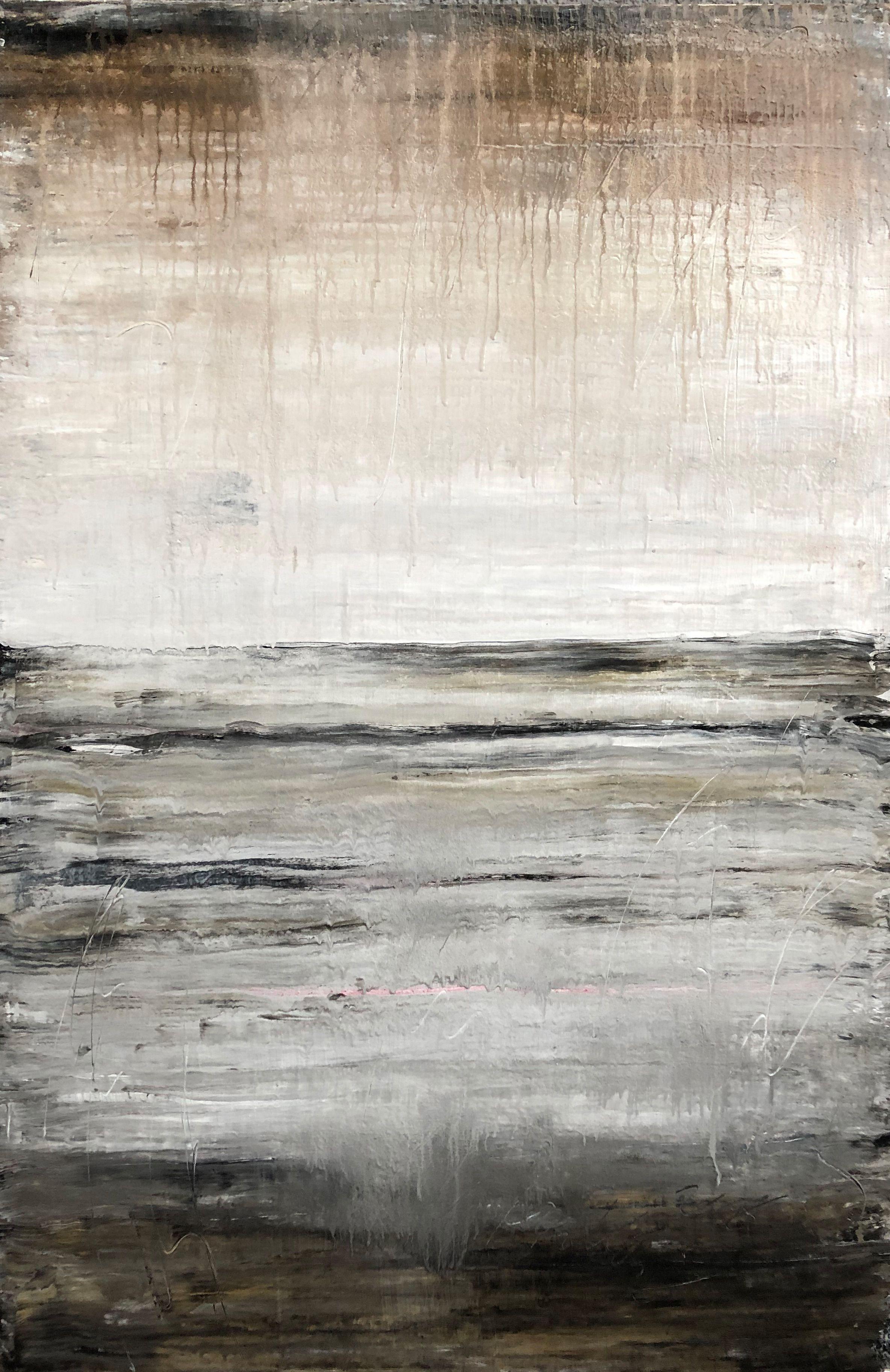 """1252 antique gold horizon"", Painting, Acrylic on Canvas"