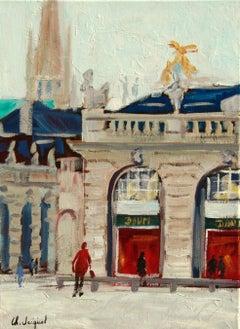 Original oil painting of Stanislas Square, Painting, Oil on Canvas