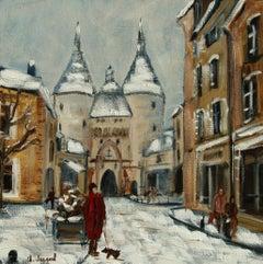 Oil Porte de la Craffe Nancy, Painting, Oil on Canvas
