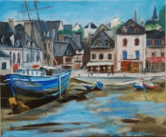 Oil from a French fishing port, Painting, Oil on Canvas