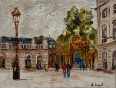 Oil on canvas of Place Stanislas France, Painting, Oil on Canvas