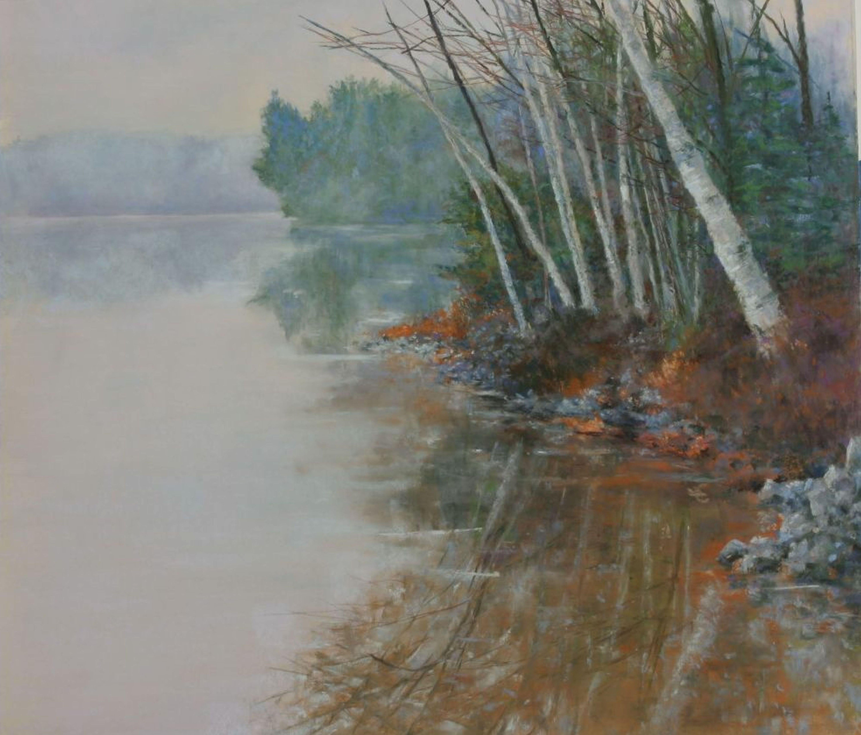 Way Up North on Long Lake, Drawing, Pastels on Pastel Sandpaper