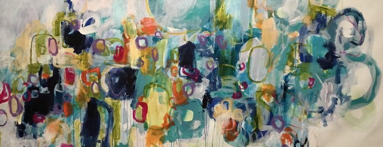 Darlene Watson Abstract Painting - TURNTABLE SPINNIN', Painting, Acrylic on Canvas