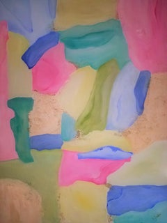 Sea Glass and Sand, Painting, Oil on Canvas