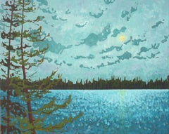 Lake Series IV, Painting, Acrylic on Canvas