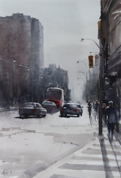 City scape_01, Painting, Watercolor on Watercolor Paper