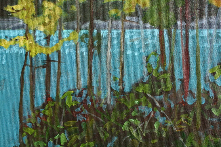 Lake Series III, Painting, Acrylic on Canvas For Sale 2