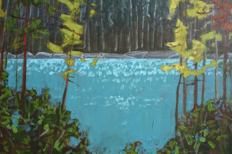 Lake Series III, Painting, Acrylic on Canvas For Sale 4