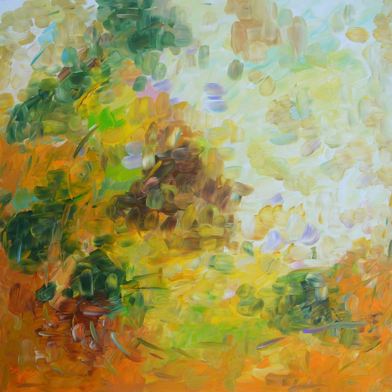 Sara Gardner Abstract Painting - Breath of Autumn, Painting, Acrylic on Canvas